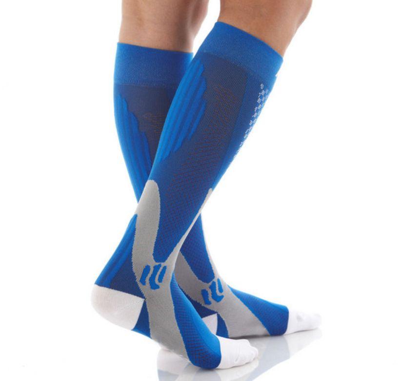 Männer 3 Farbkompressionssocken Feste Druckkreislauf Qualität Knie Hohe Orthopädische Stützstrumpfschlauch Socke Drop Shipping