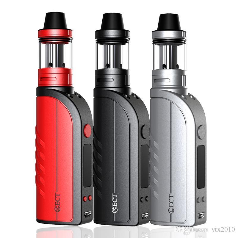 factory wholesale ECT B50TC Kit VW 5-50W 2200mah electronic cigarette battery 0.3ohm 2.0ml e cigarette vaporizer 3 colors dhl free shipping