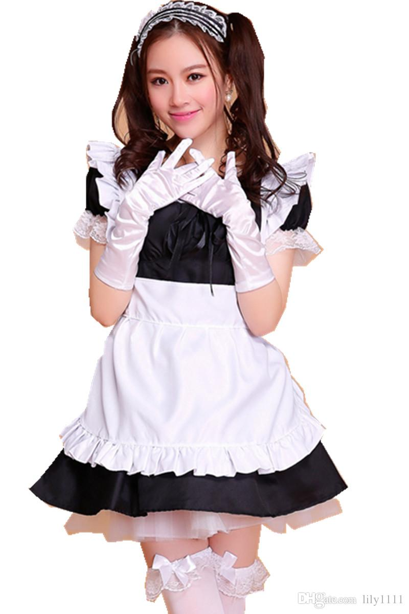 Shanghai Hikayesi Kadın Japon Kawaii Hizmetçi Kostüm Lolita Elbise Cosplay