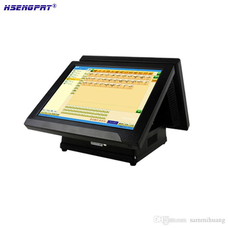 HS-620SPC Point of sale 15 Dual Screen Hot Selling All In One POS Systems Manufacturer Windows/Linux for restaurant