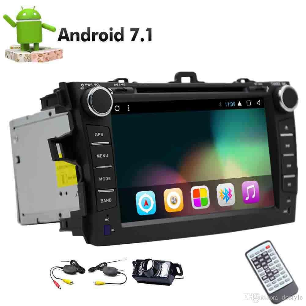 Wireless Backup Camera Car Stereo 8-core Android 7.1 OS Car DVD Player For Toyata Corolla in Dash Autoradio Bluetooth GPS Navigation USB