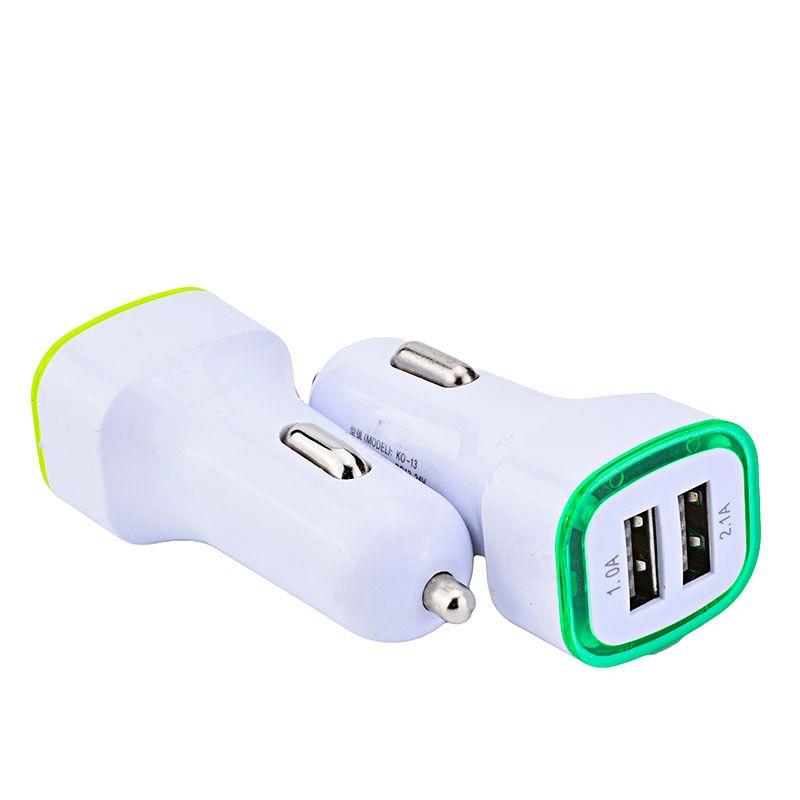 5V 2.1A due porte USB LED Luce del telefono Caricatore da auto Adattatore universale Adattatore Charing per Samsung S7 S8 S9 LG cellulare