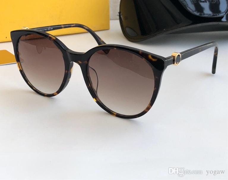 0288S Dark Havana Sunglasses Gafas De Box Sunglasses Round Sonnenbrille Sol New With Women Sqxrp