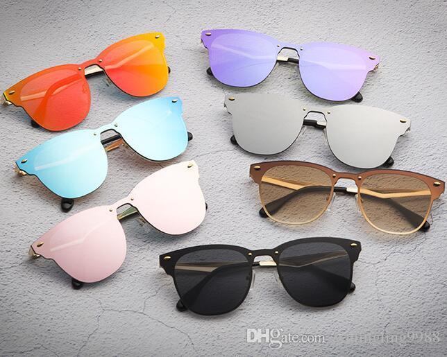 Beliebte Marken-Designer-Sonnenbrillen für Männer Frauen-beiläufige einen.Kreislauf.durchmachenglas Außen Eyewears Mode Siamese Sonnenbrille Spike Katzenaugen-Sonnenbrille