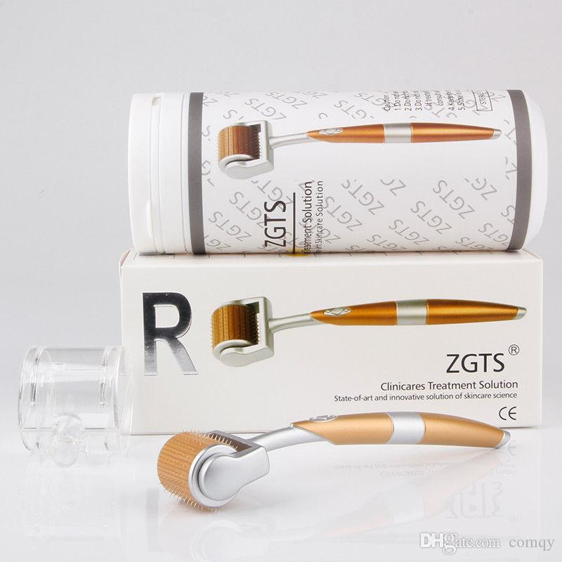 ZGTS 192 티타늄 마이크로 바늘 치료 Derma 롤러 여드름 흉터 제거 안티 에이징 스킨 케어 회춘 아름다움