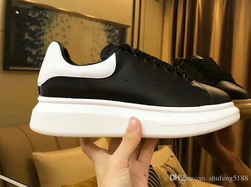 Noir Casual Chaussures À Lacets Designer Confort Jolie Fille Femmes Baskets Chaussures En Cuir Casual Hommes Femmes Baskets Extrêmement Durable Stabilité