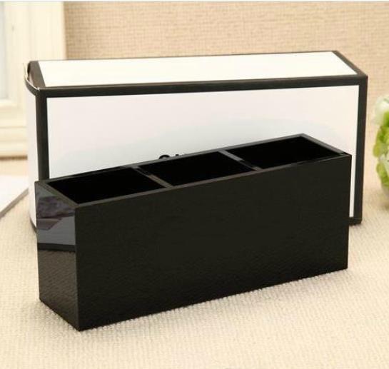 أزياء العلامة التجارية الكلاسيكية عالية الجودة الاكريليك الزينة 3 شبكة تخزين مربع / تخزين الملحقات مستحضرات التجميل مع التعبئة هدية