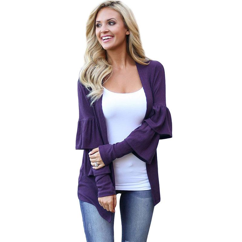Feierhaosi Autunno Aperto Stitch Ruffle Sleeve Splice Donna Cappotti Plus Size Casual Bodycon Trench Coat per Abiti Donna 2018
