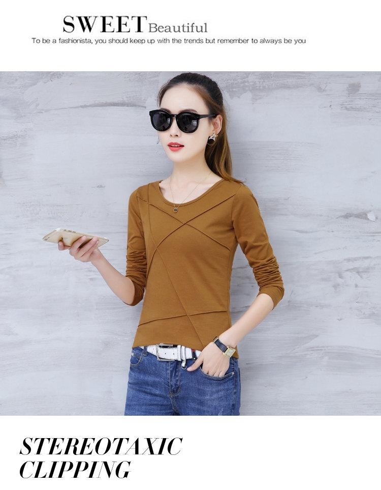 Plus Size Tshirt Women T-shirt Tee Tops Femme Autumn Long Sleeve T-shirts For Women 2019 Casual Cotton Tops Tees Camisetas Mujer (8)