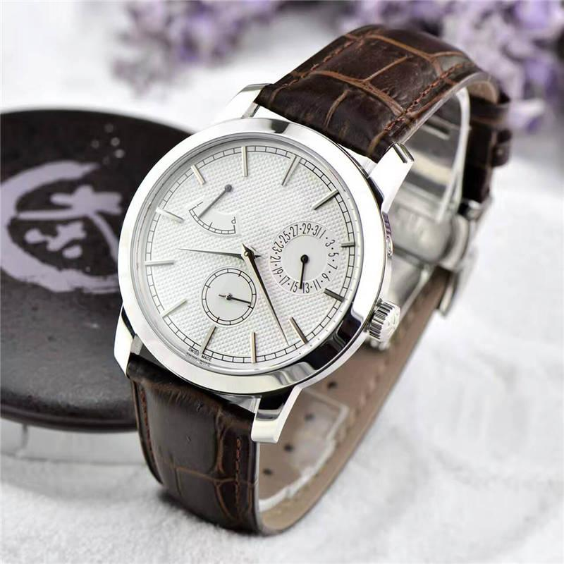 HK Factory di alta qualità versione ufficiale orologi da uomo di lusso orologio meccanico a carica manuale 24 ore di riserva di carica orologi da polso impermeabili VC