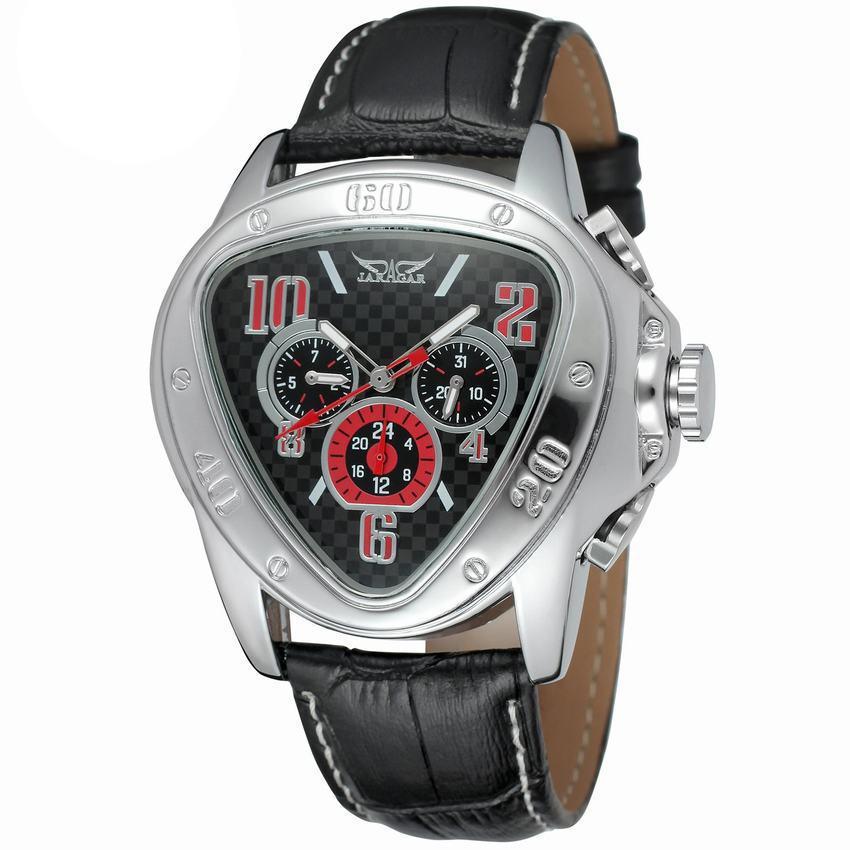 Hot sale triangle dial week calendar men's automatic mechanical men's watch