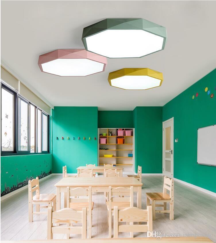 Tavan LED Ultra ince 5CM renkler tavan lambası Yüksek parlaklık mücevher Çocuk odası aydınlatma Tavan salonu Lights ışıkları