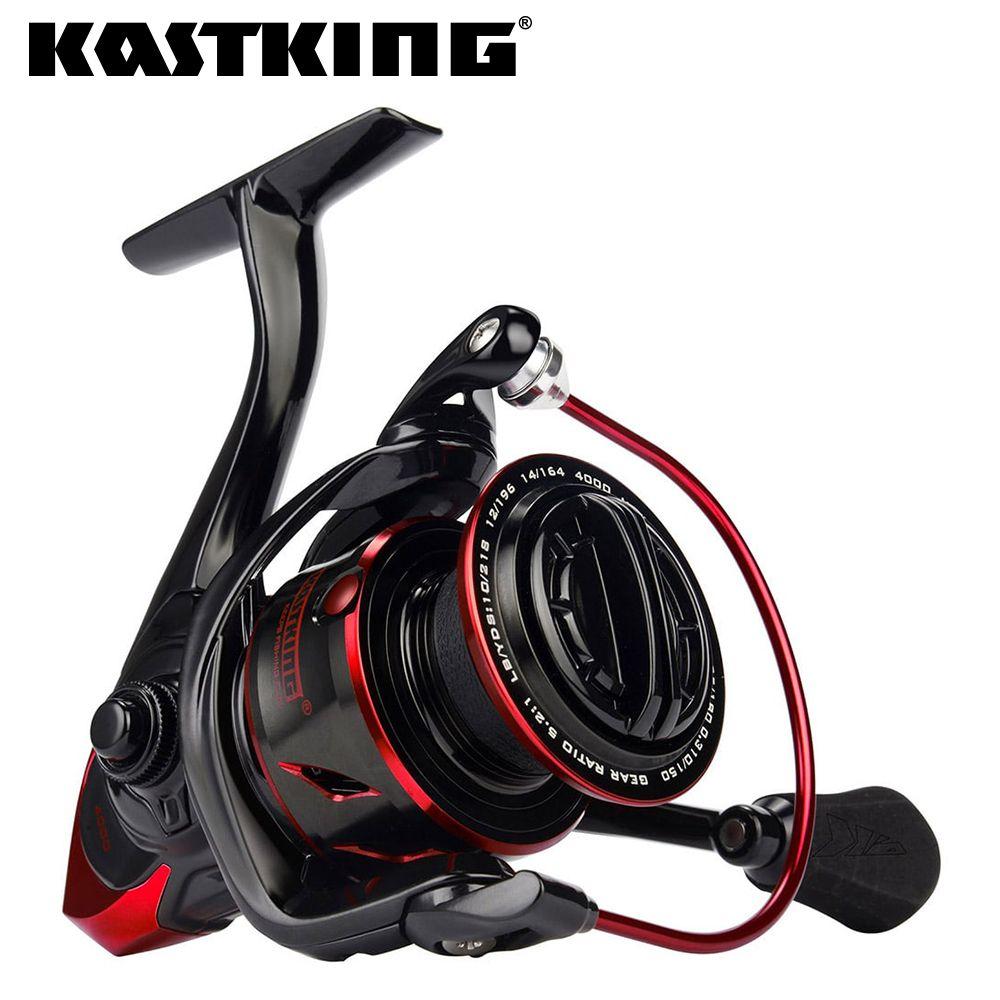 KastKing Sharky III carrete de giro de resistencia al agua innovador carrete de pesca 18KG máximo de arrastre para pesca de lucio bajo