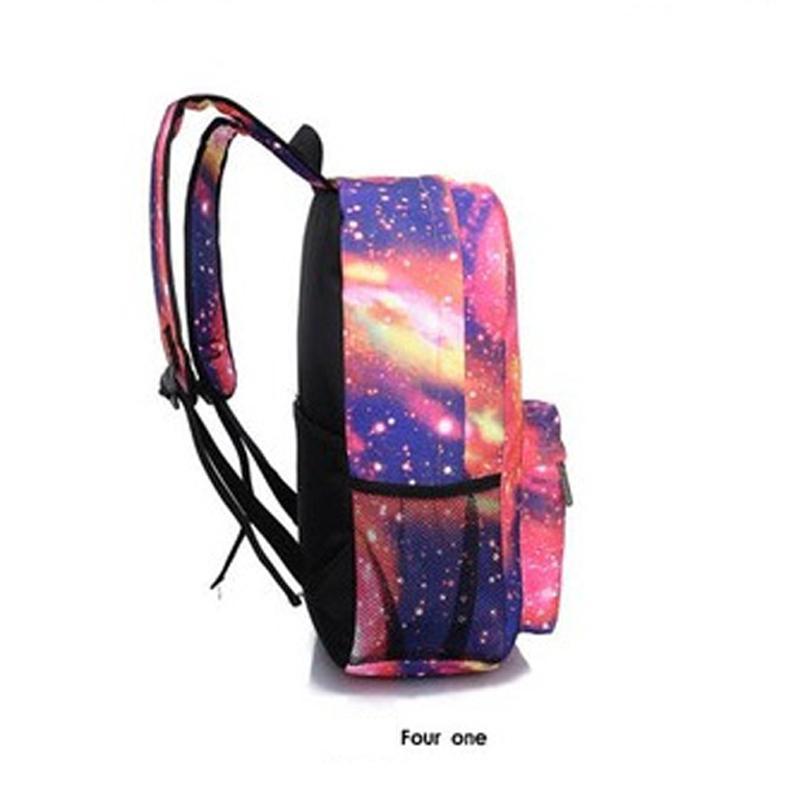2021 HARAJUKU Borse Galaxy Cosmos Zipper Canvas Donne Uomo Donne da viaggio Zaini Zaini Ragazze Ragazze Adolescenti Scuola Ragazzi Stile MochiLa Grande FGJIV