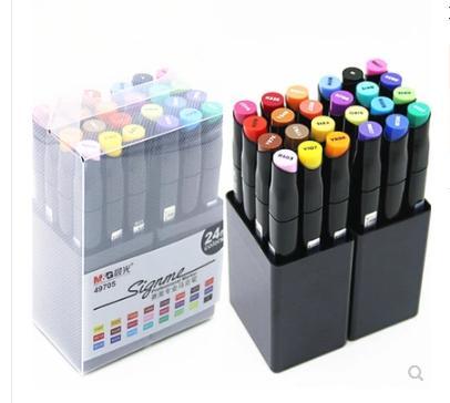 ZMAX искусство маркер Supplyies 24 цветов/компл. большой вес чернил Двуглавый художник эскиз маслянистой спирта на основе маркеров для анимации манга