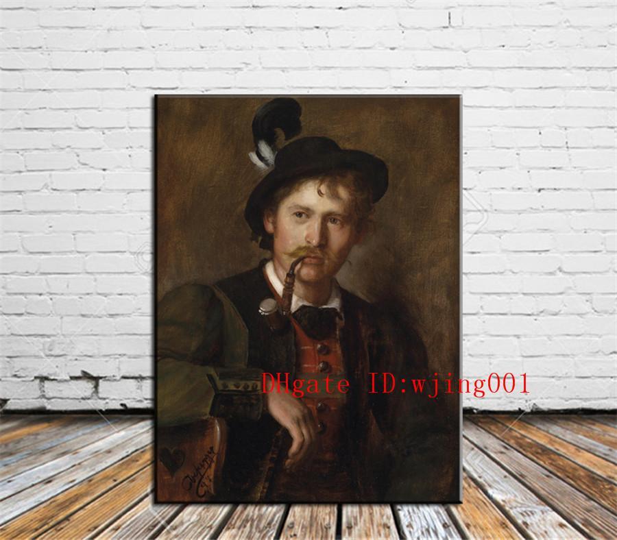 Franz Von Defregger, Peças de Lona Decoração de Casa HD Impresso Arte Moderna Pintura sobre Tela (Sem Moldura / Emoldurado)