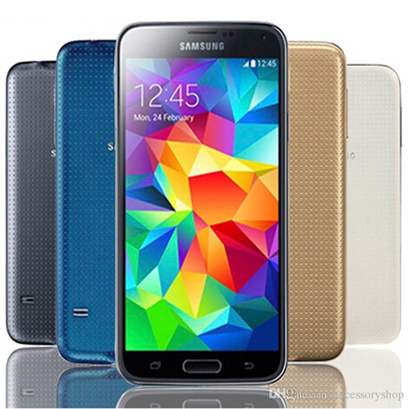 الأصلي سامسونج غالاكسي S5 تجديد G900F G900A G900V G900T 5.1 بوصة رباعية النواة 2GB RAM 16GB ROM 4G LTE مقفلة الهاتف DHL الجملة 10pcs