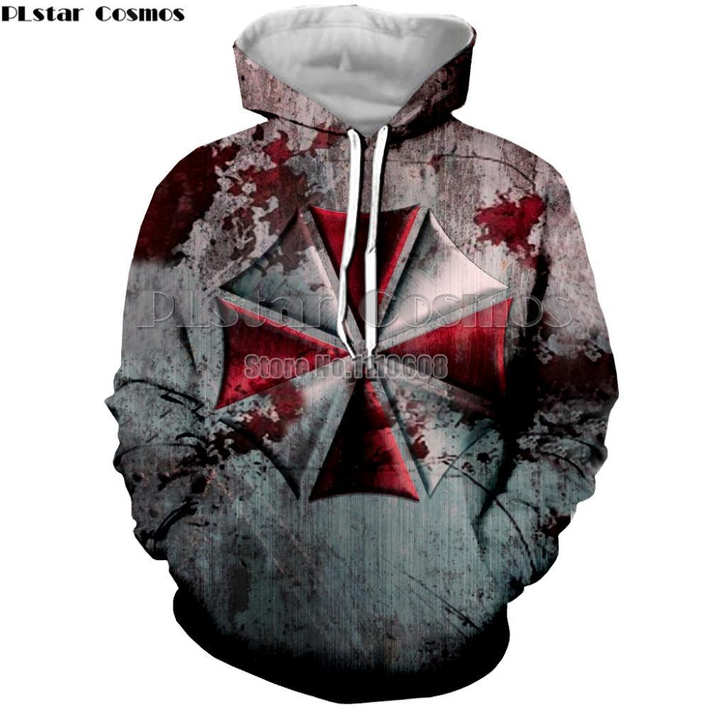PLstar Cosmos Resident Evil Pullover Männer Frauen Hoodies Sewatshirts Kapuzenjacke Langarm Pullover Pullover Tracksuits