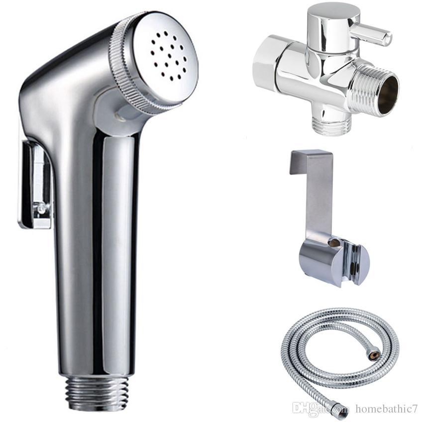 2020 Diaper Hand Held Toilet Bidet Sprayer Douche Shattaf Shower Spray Stainless Steel Hose Holder Set Chrome Finish From Homebathic7 26 13 Dhgate Com