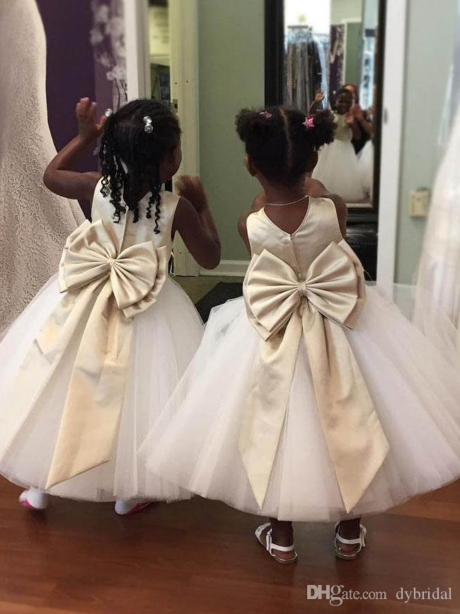Flower Girl 2018 Cheap Plus Size First Communion Dresses Kids Wedding  Dresses Wedding Girl Dresses White Tulle Flower Girl Dress From Dybridal,  ...