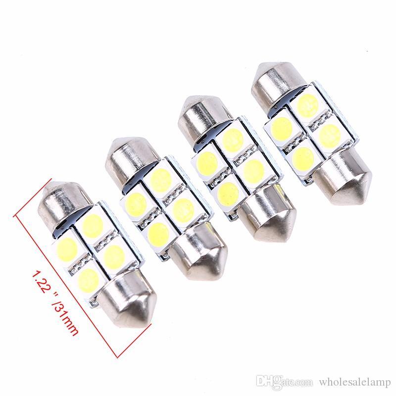 31MM-41MM 4SMD Car Interior Dome Festoon LED Light Bulbs Lamp White DC 12 V Interior Door Lamp License Plate