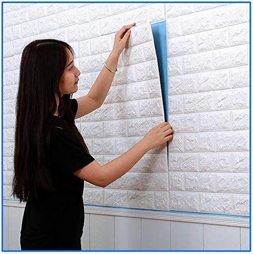 3D 벽돌 벽 스티커 PE 거품 자동 접착 벽지 껍질과 거실 3D 벽면 패널 침실 배경 벽 장식