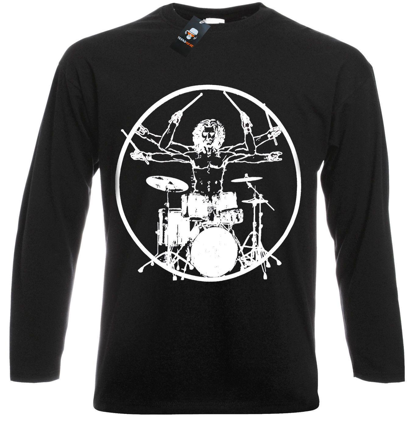 Vitruvian Drummer//Funny//Drumming//T Shirt//Drums//Drum//Kit Stick//Music//Rock//Top//Tee