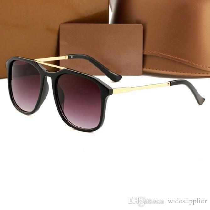 Erkekler Kadınlar Big için 2018 Moda Güneş Tasarımcı Güneş Güneş Gözlükleri% 100 UV Koruma Gözlük Gözlük 5 Renk Güzel Face Çerçeve
