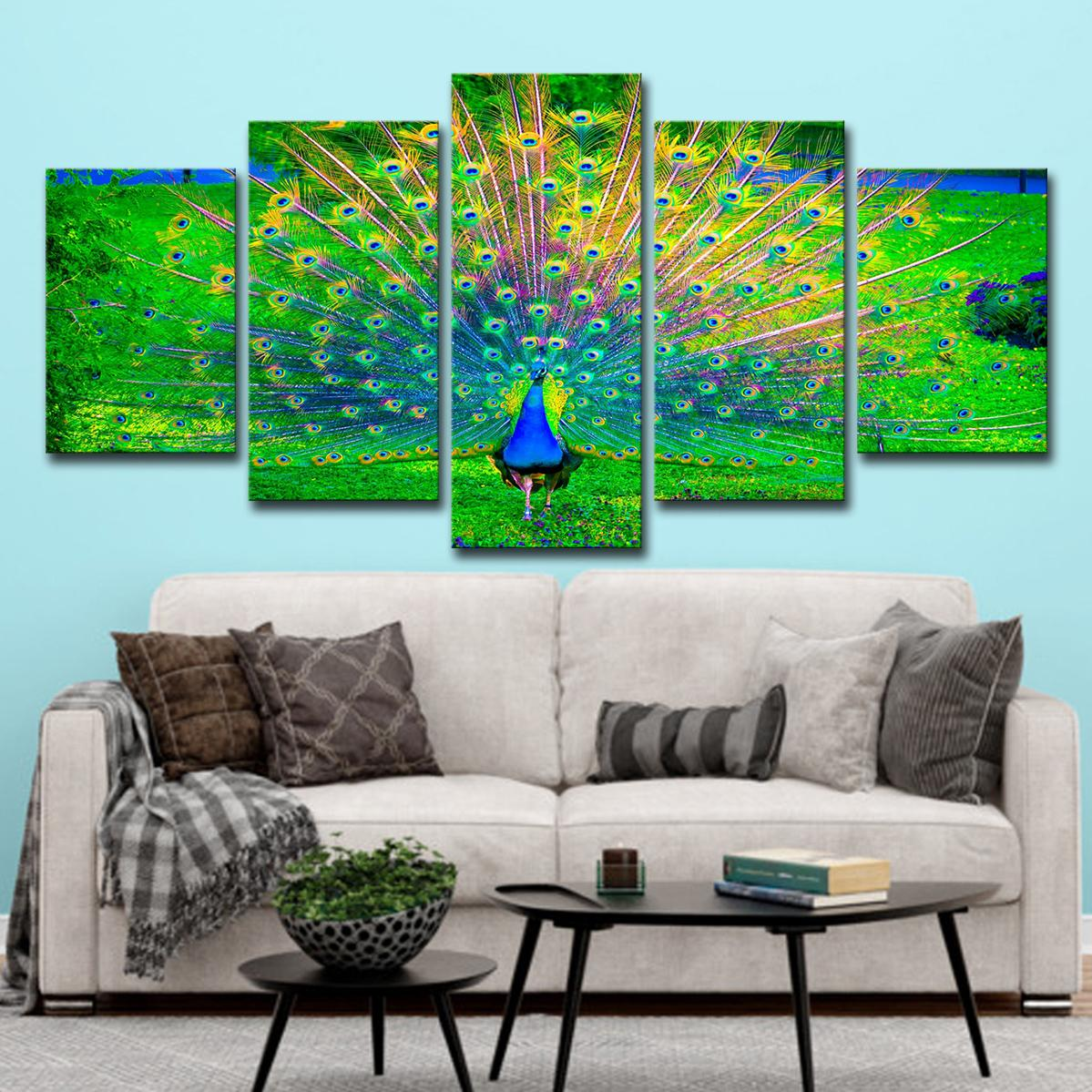2019 Modern Home Wall Art Decor Frame Canvas Pictures Hd Printed Peacock Open Green Screen Paintings Animal Posters From Gzz198301121 18 49