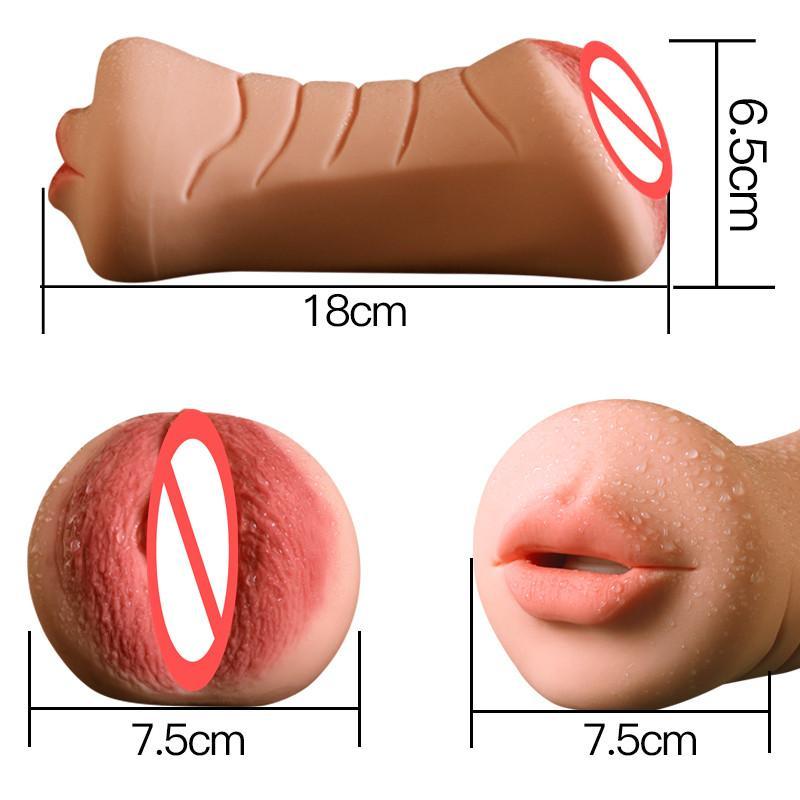 Oral Sex Male Aircraft Cup Realistic Vaginal Sex Mini Pocket Pussy Artificial Vagina Male Masturbators Sex Toys for Men B2-1-59