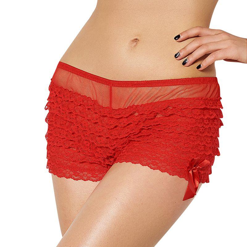 P5077 Super deal 2 cores falbala plus size calcinha marca new fashion women under wear venda quente best selling boxer femme