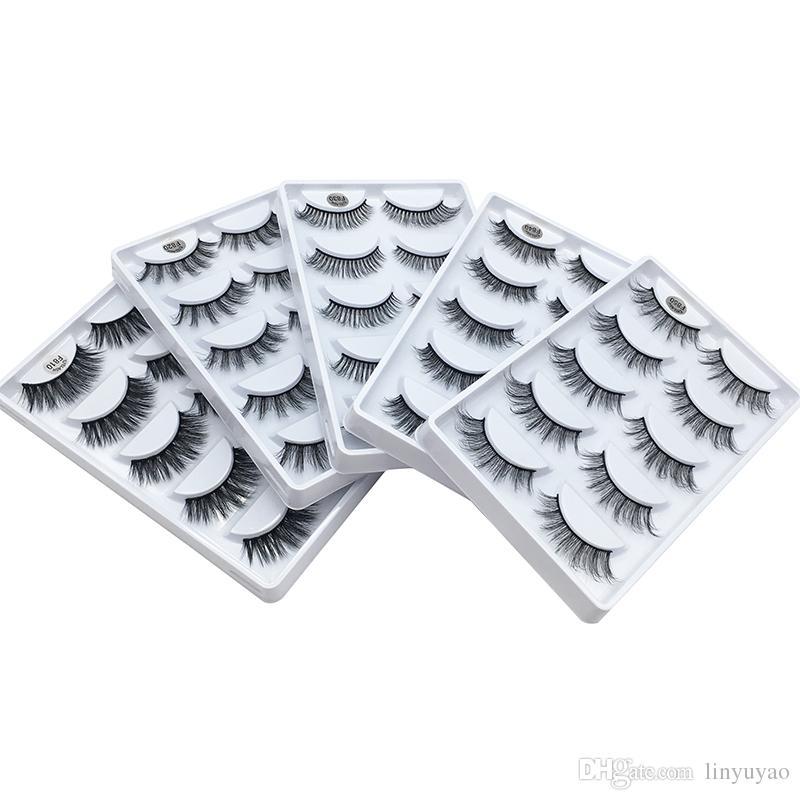 3D Vizon Kirpik Saç 5 Çift Yanlış Kirpik Uzatma Kirpik Saç Tam Şerit Göz Lashes Aritificial Vizon 5 Tasarımlar tarafından 3001361