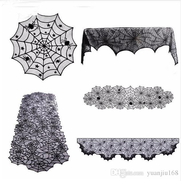 Halloween Tablecloths Haloween Decor Party Supplies Table Runner Fireplace Scarf Cover Halloween Decoration for Home