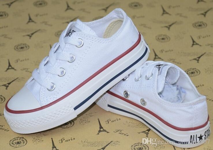 مولود جديد الاطفال قماش الأزياء والأحذية عالية - أحذية منخفضة الفتيان والفتيات الرياضة قماش أحذية الأطفال