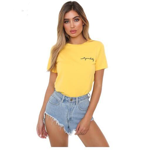 yellow tee shirt women