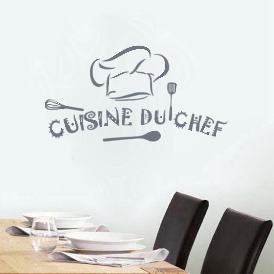 French Home Kitchen Wall Sticker Cuisine Du Chef Art Kitchen