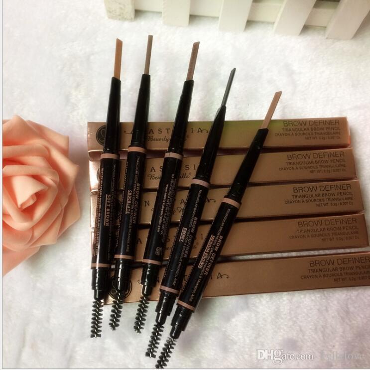 Maquillage de maquillage Améliorateurs Maquillage Maquillage Skinny Pencil Or Double Terminé avec brosse à sourcils 5 couleurs ébène / moyenne / douce / sombre / chocolat