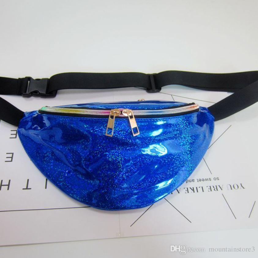 New Holographic Fanny Pack Laser Waist Packs Heuptas Hip Bag Women's Waistband Banana Bags Waist bag Unisex bolso cintura -U