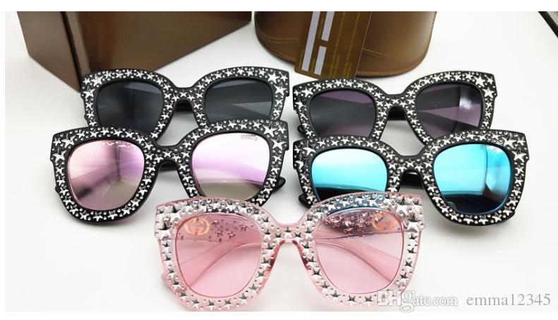0116 Óculos De Sol Das Mulheres De Luxo Designer De Marca 0116S Olhos de Gato Estilo Verão Retângulo Quadro Cheio de Alta Qualidade de Proteção UV