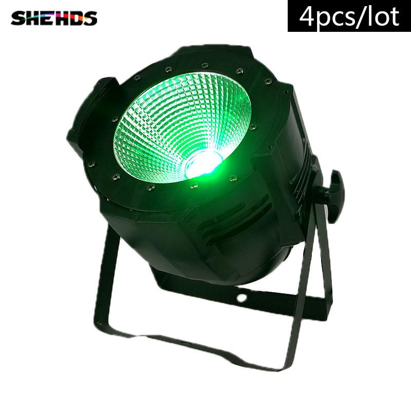 4 pezzi / lotto LED Par C0B 100W RGBW 4IN1 Illuminazione LED Par Can spotlight DJ light Dmx controll decorazioni natalizie Professionale per Club DJ