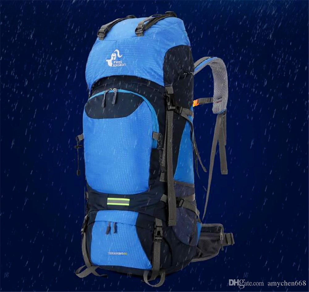 Outdoor Bags 60L Large Capacity Outdoor Mountaineering Hiking Fitness Waterproof Camping Men And Women Backpack Green 60L