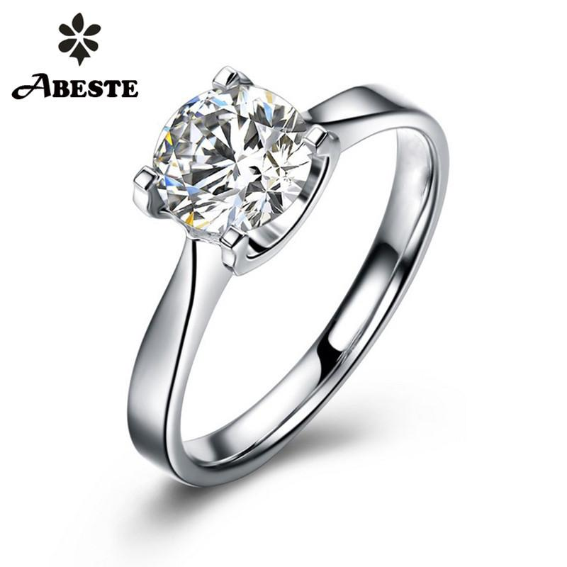 Rose Blanc Zircon JAUNE argent plaqué or Mariage Cocktail Ring US 4 To 15