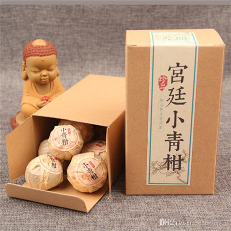 Promotion 100g Yunnan kleiner grüner Zitrus Reif PU-äh Tee Tuocao Organic Natural Black Pu'er Tee Alter Baum Gekochte Puer Tee Boxed