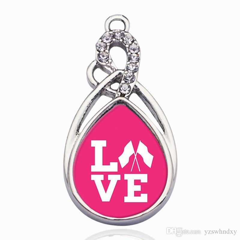 Color Guard Love Circle Charm Pour la fabrication d'accessoires de bijoux bricolage