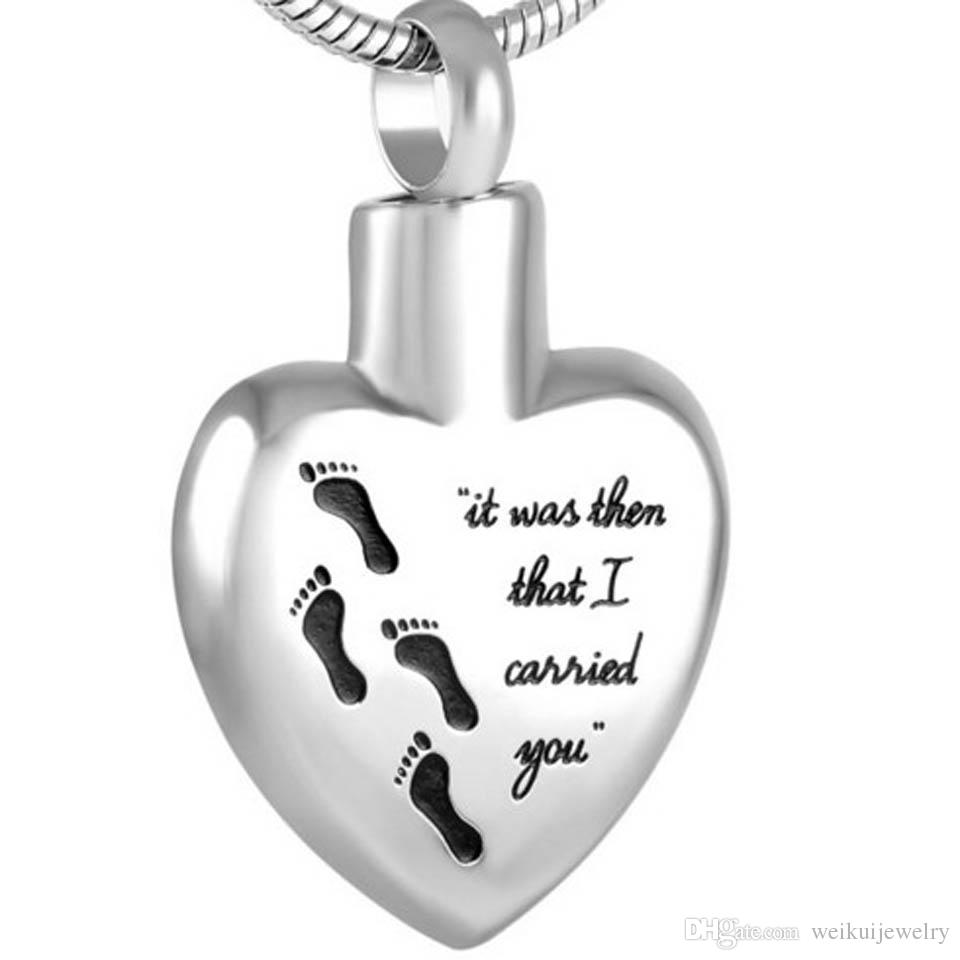 """""""It Was Them That I Carried You""""Funeral Casket URN Jewelry Cremation Ashes Keepsake Pendant"""