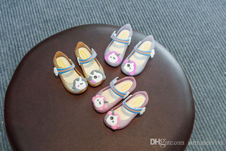 NEW Girls Jellies Light Shoes Pink Sandals Lights Up Beaded Size 3 Flip Flops