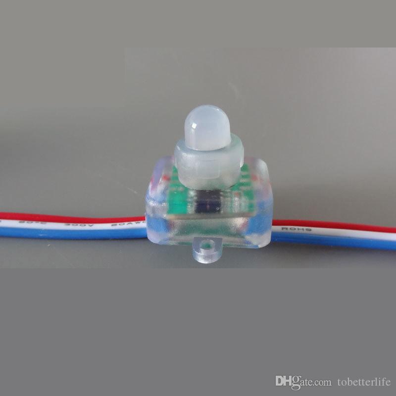 DC5V 12 فولت WS2811 بكسل ضوء RGB كامل اللون مربع منتشر الرقمية الصمام بكسل وحدة نمط IP68 للماء بشكل فردي