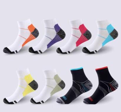 Nefes Sıkıştırma Ayak Bileği Çorap Anti-Yorgunluk Plantar Fasiit Topuk Spurs Ağrı Kısa Çorap Erkekler Kadınlar Için Çalışan Çorap aksesuarları