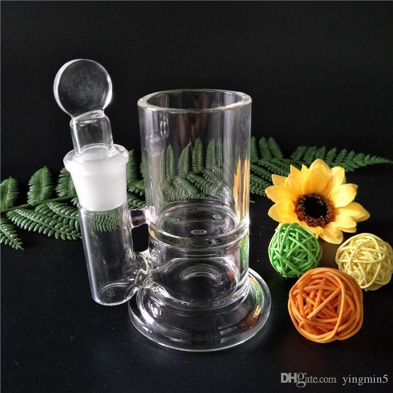 Vaso ISO Q-Tip di alta qualità Qtip iso contenitore vetro bong vetro contenitore conservazione dell'olio pulizia vetro bong vetreria (IS-001)