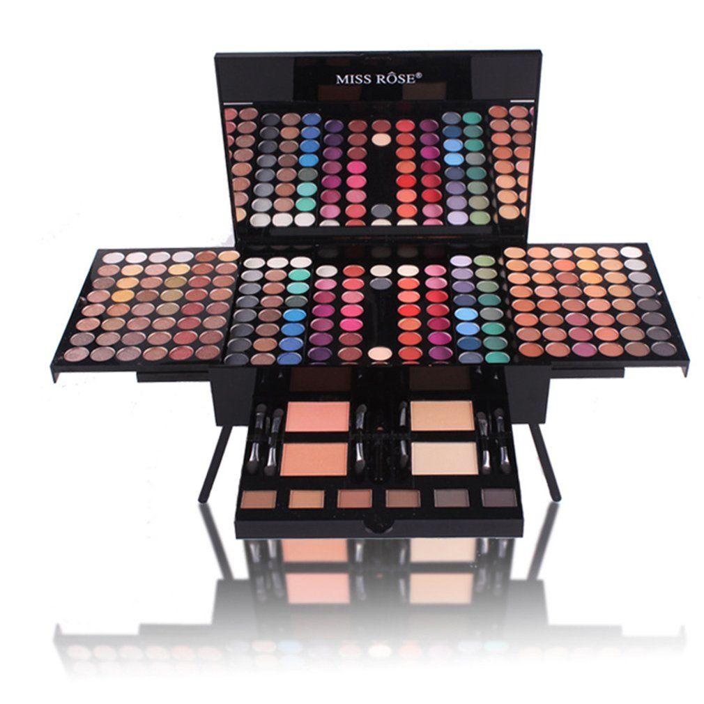 MISS ROSE Piano Shaped Makeup Eyeshadow Palette Kits 180 Color Complete Makeup Set Matte Shimmer Blush Powder Best Gift